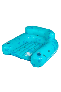 The Lounge Float is super comfy, has an optional fold out footrest, and cupholders for the best lounging experience you've ever had