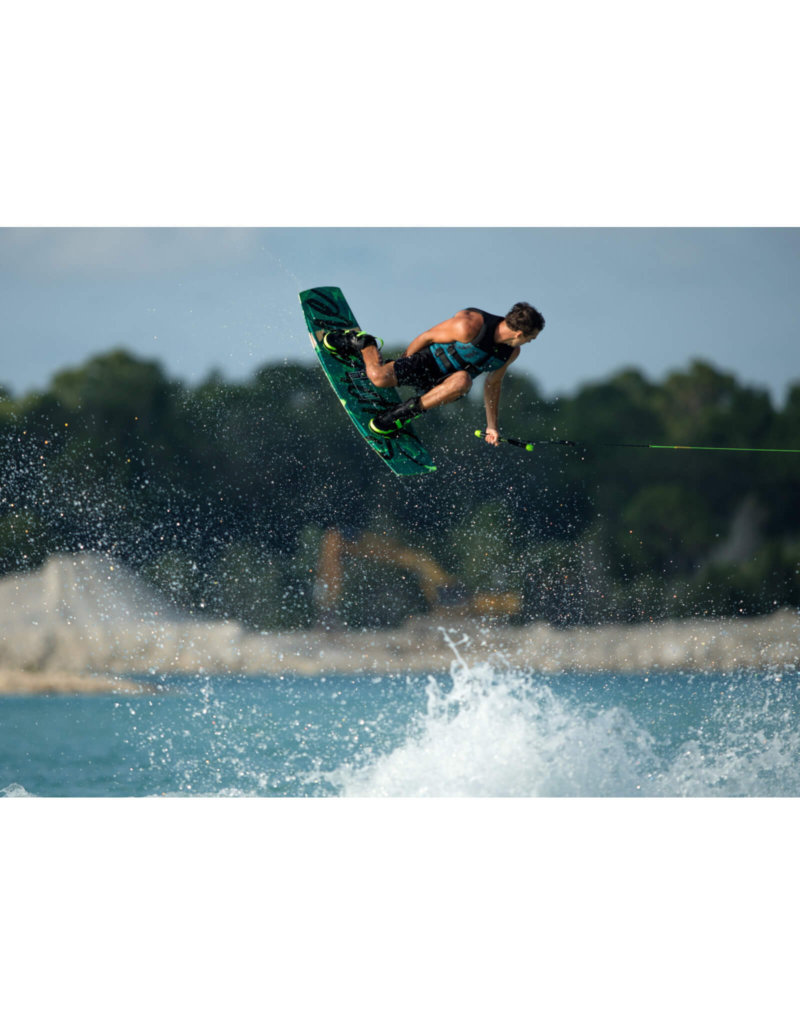 A Ronix Pro Rider boosts high off the wake on the new 2021 Ronix Supreme Wakeboard